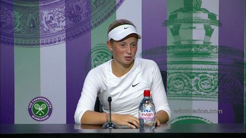 2014 Girls' Singles Champion Jelena Ostapenko Press Conference