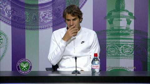 Roger Federer 2014 Gentlemen's Singles Runner Up Press Conference
