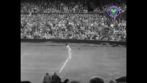 Fred Perry wins Wimbledon in 1935