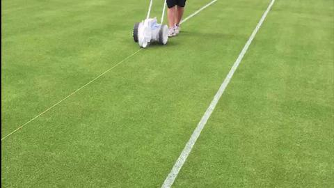 Marking the courts in timelapse