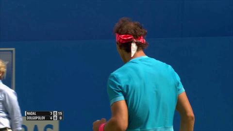 Shot of the day - Rafael Nadal at Queen's