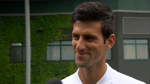 Novak Djokovic interviews for the job of Wimbledon Champion