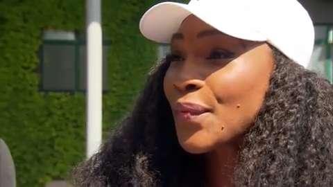 Serena Williams interviews for the job of Wimbledon Champion