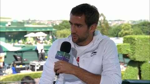 Marin Cilic visits the Live @ Wimbledon studio