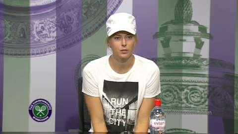 Maria Sharapova First Round Press Conference