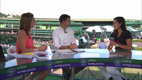 Ana Ivanovic visits the Live @ Wimbledon studio