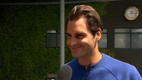 Roger Federer interviews for the job of Wimbledon Champion