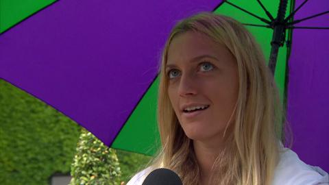 Petra Kvitova interviews for the job of Wimbledon Champion
