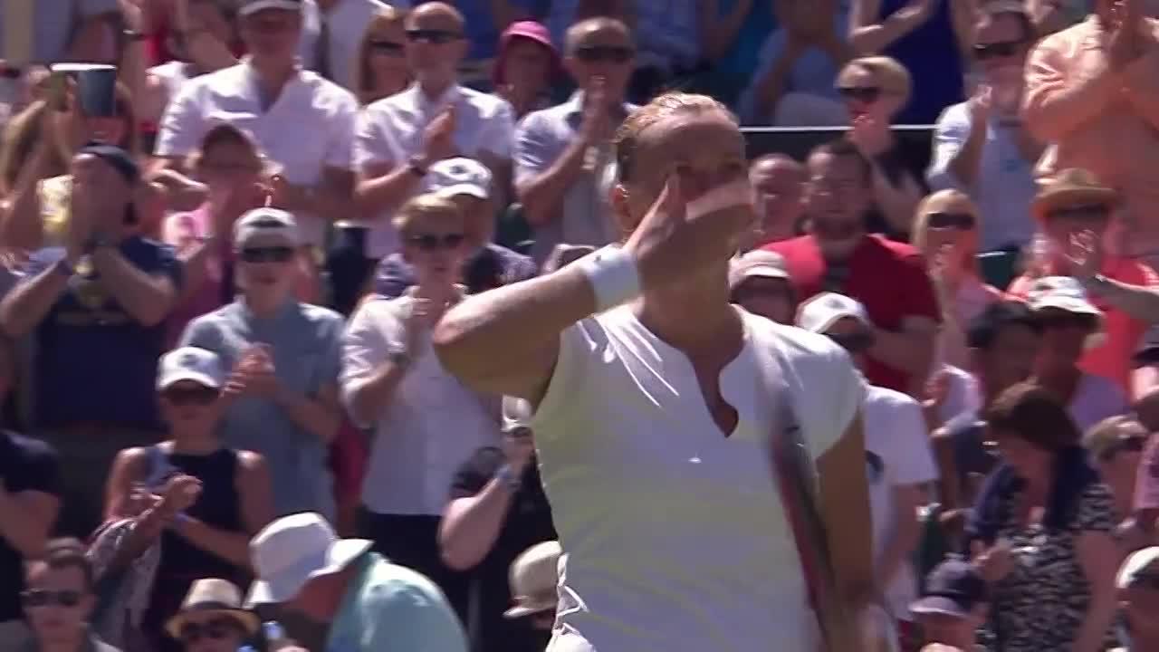 Petra Kvitova celebrates rapid sprint