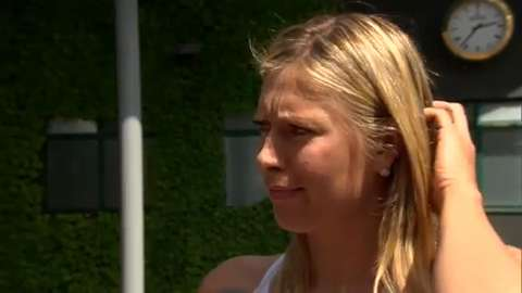 Maria Sharapova interviews for the job of Wimbledon Champion