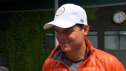 Milos Raonic interviews for the job of Wimbledon Champion
