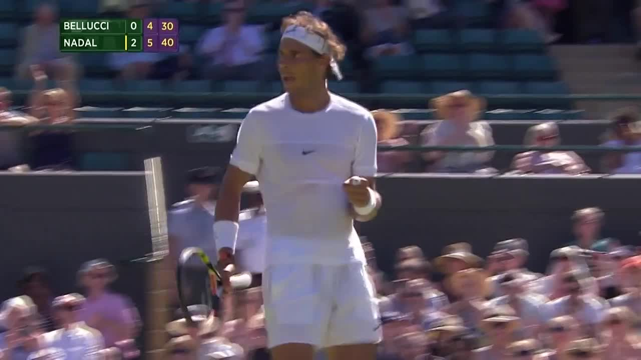 Rafael Nadal on the march
