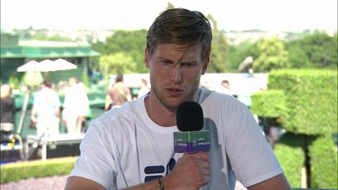 Andreas Seppi visits the Live@ Wimbledon studio