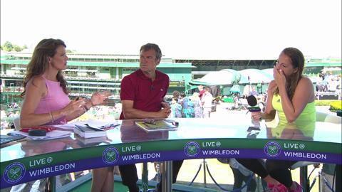 Anastasia Pavlyuchenkova visits the Live @ Wimbledon studio