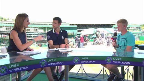 Kyle Edmund visits the Live @ Wimbledon studio