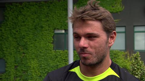 Stanislas Wawrinka interviews for the job of Wimbledon Champion