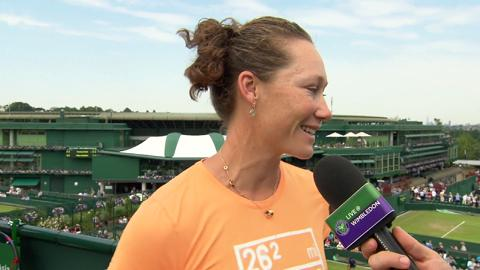 Samantha Stosur Live @ Wimbledon interview