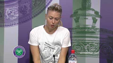 Maria Sharapova Second Round Press Conference