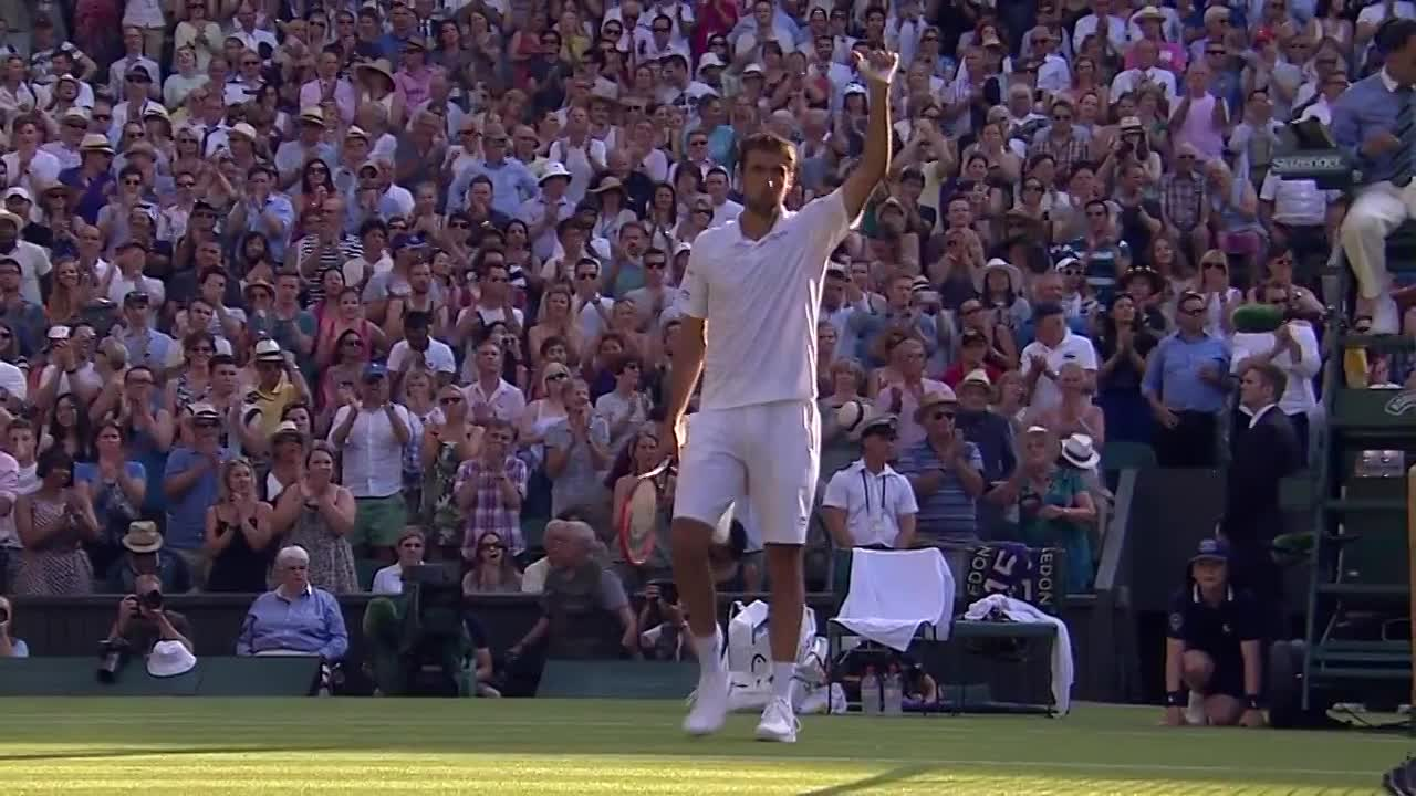 Relieved Cilic advances