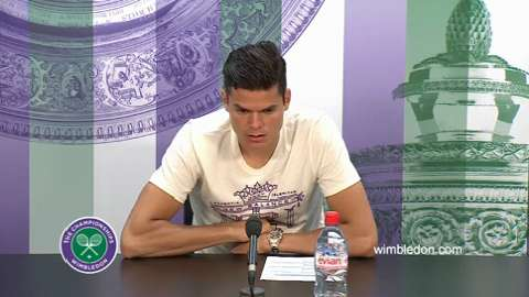 Milos Raonic Second Round Press Conference