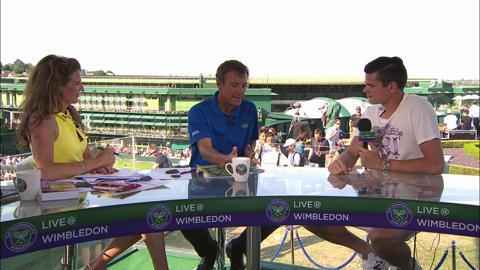 Milos Raonic visits the Live @ Wimbledon studio