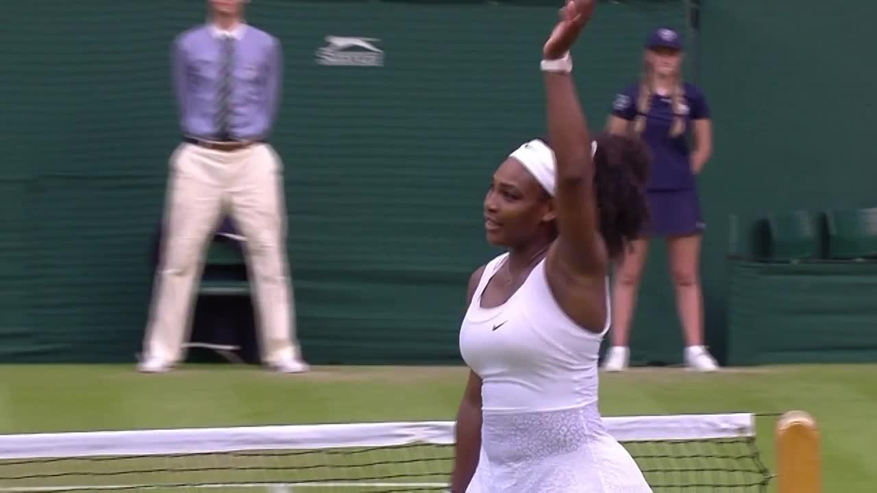 Serena celebrates second round victory