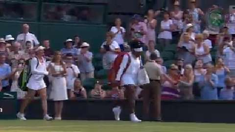 2015 Day 3 Highlights, Serena Williams vs Timea Babos