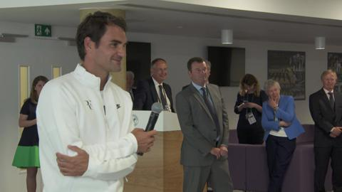 Roger Federer opens Ball Boys and Girls' Complex