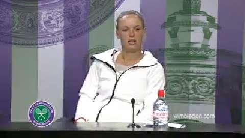 Caroline Wozniacki Second Round Press Conference