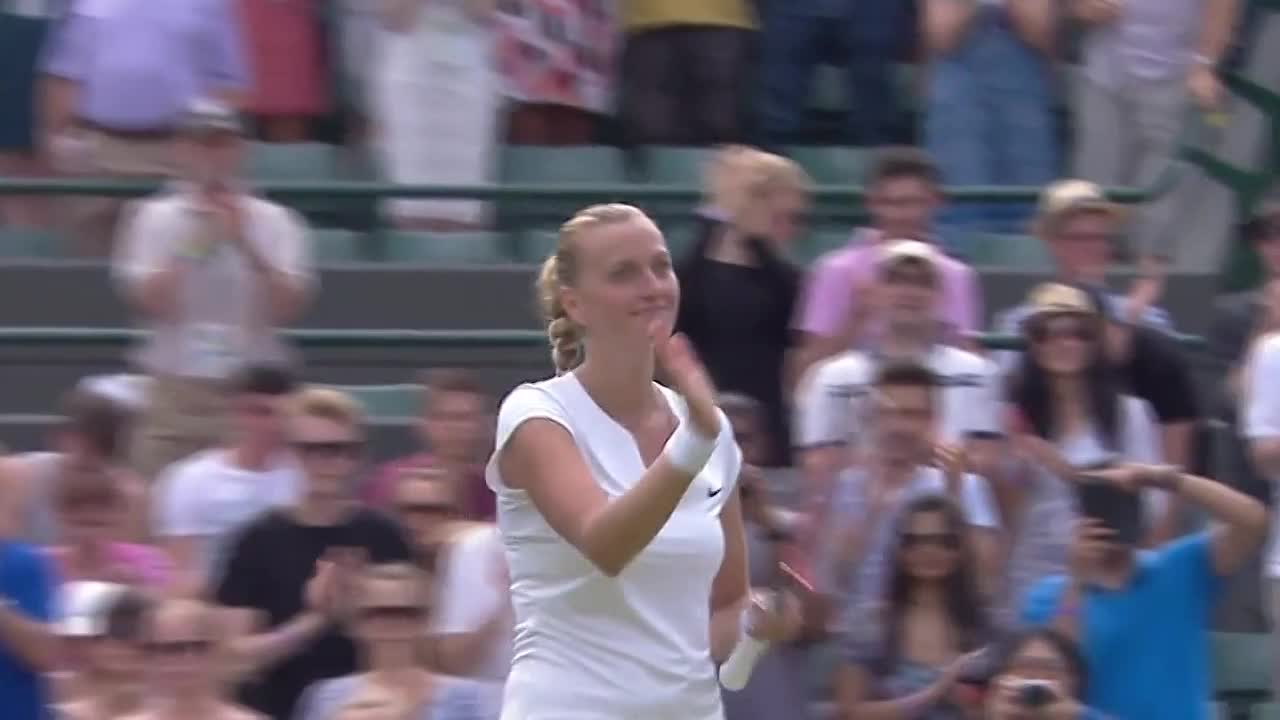 Kvitova celebrates cruising to victory