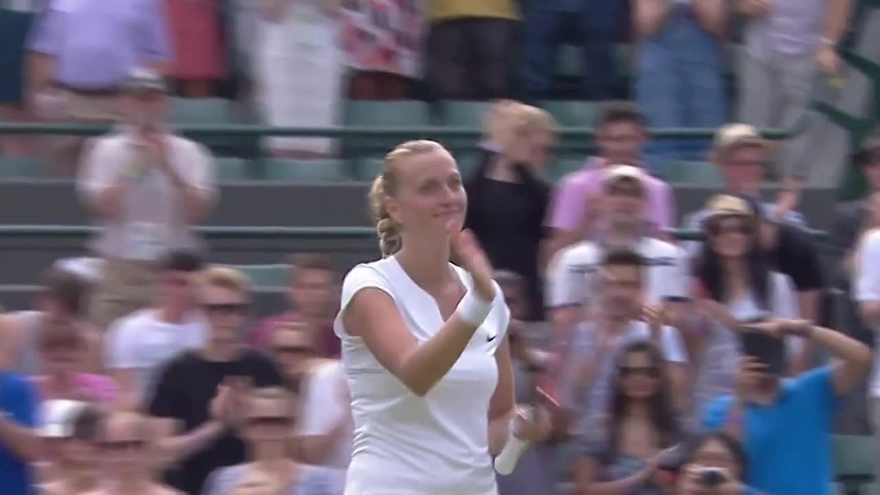 Kvitova celebrates cruising to victory