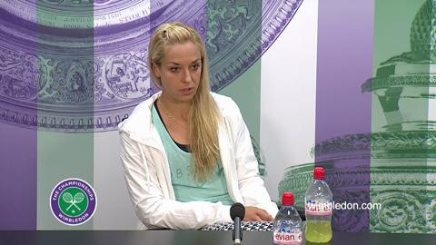 Sabine Lisicki Second Round Press Conference
