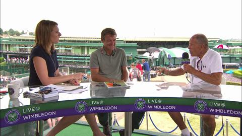 Nick Bollettieri visits the Live @ Wimbledon studio