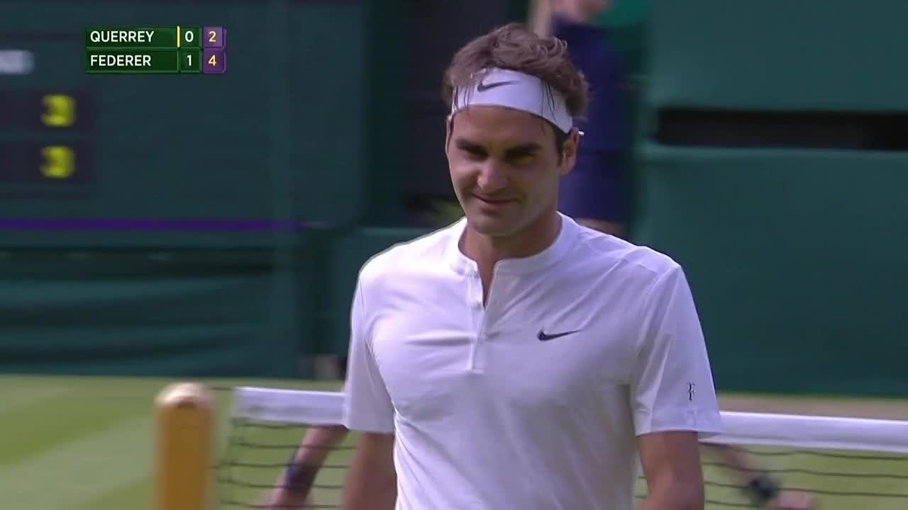 Federer stuns with outrageous trick shot