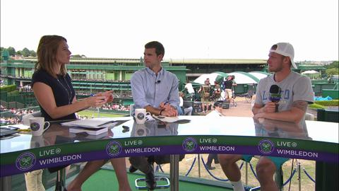 Sam Groth visits the Live @ Wimbledon studio
