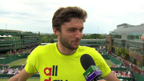 Gilles Simon Live @ Wimbledon interview