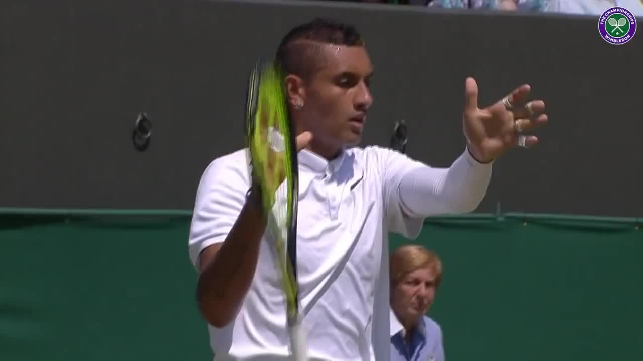 Kyrgios stunned by Raonic serve