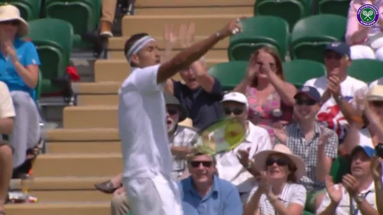 Kyrgios with yet another piece of magic