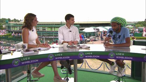 Dustin Brown visits the Live @ Wimbledon studio