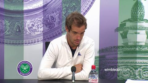 Richard Gasquet Third Round Press Conference