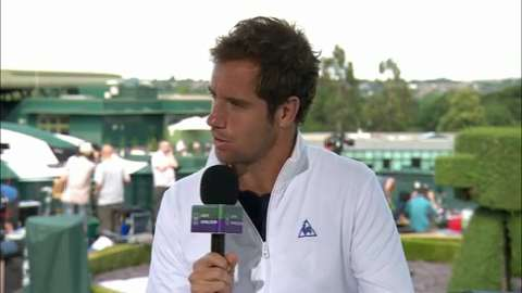 Richard Gasquet visits the Live @ Wimbledon studio