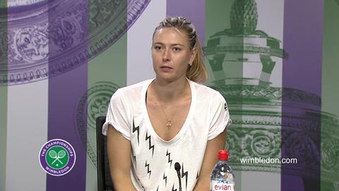 Maria Sharapova Third Round Press Conference