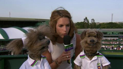 CBBC's Hacker and Dodge Live @ Wimbledon interview