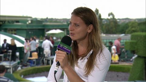Lucie Safarova visits  the Live @ Wimbledon studio