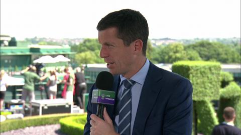 Tim Henman visits the Live @ Wimbledon studio