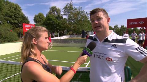 Brian O'Driscoll Live @ Wimbledon interview