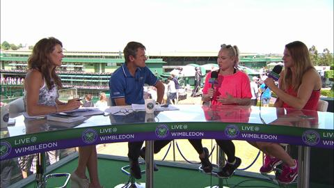 Bethanie Mattek-Sands and Lucie Safarova visit the Live @ Wimbledon studio