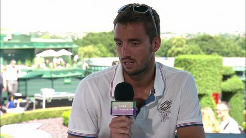 Viktor Troicki visits the Live @ Wimbledon studio