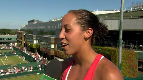 Madison Keys Live @ Wimbledon interview