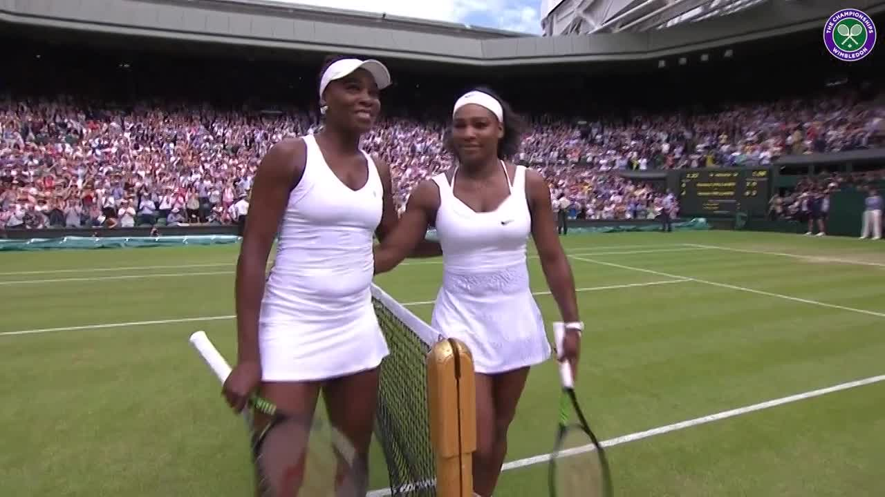 Lovely reception for the Williams sisters